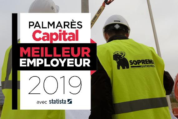 Palmarès Capital : SOPREMA Entreprises fait partie des Meilleurs Employeurs 2019 !